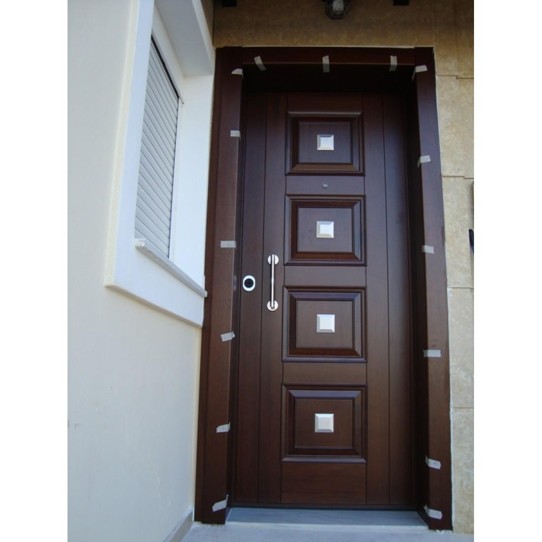Θωρακισμένες πόρτες ασφαλείας με χειροποίητα και ίνοξ σχέδια